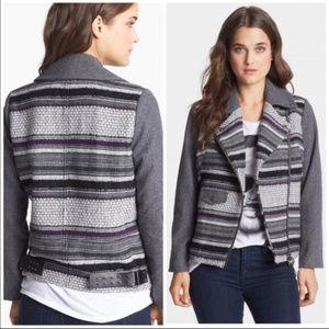 ElevenParis Moto Gray StripedTeofil Tweed Jacket M